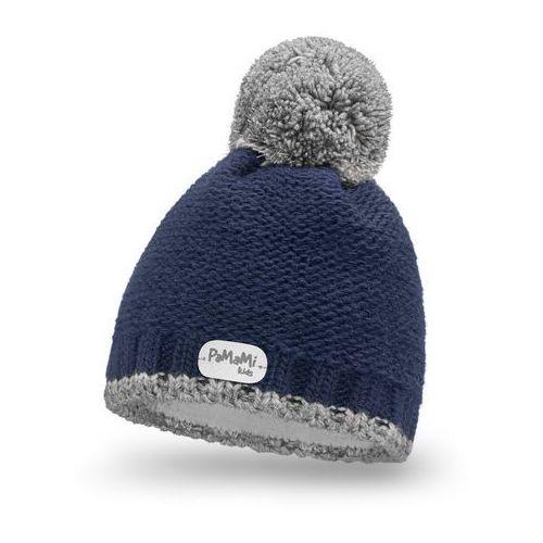 Zimowa czapka dziewczęca PaMaMi - Granatowy - Granatowy