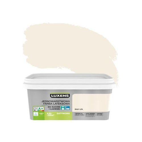 Farba Wewnętrzna Kuchnia I łazienka 25 L Biały Len Luxens