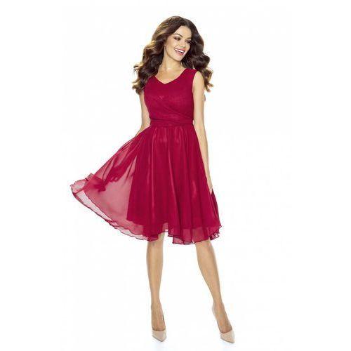 79373af5af Bordowa sukienka koktajlowa z szyfonu (Kartes Moda) - sklep ...