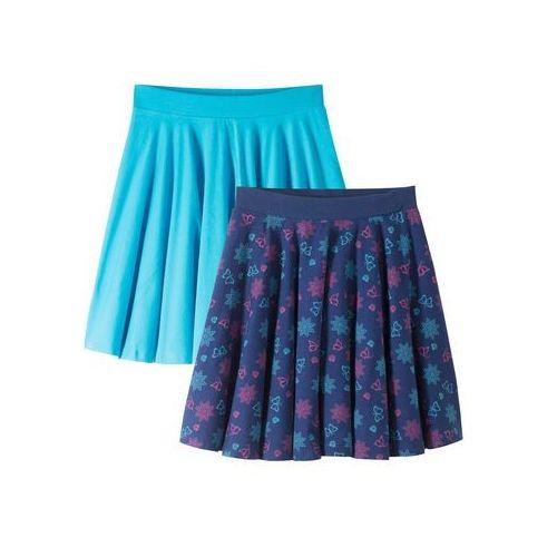 Spódnica (2 szt.) bonprix kobaltowo-turkusowy, kolor niebieski