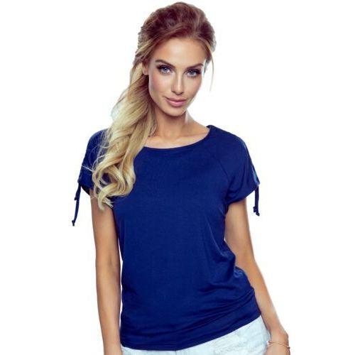 Erwina bluzka damska Eldar Romantica Top Granatowa - Granatowy, kolor niebieski