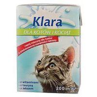 Mleko Klara dla kotów i kociąt kartonik 200ml, 1801