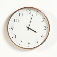 Zegar metalowy, wykończenie w kolorze miedzianym