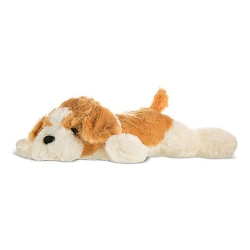 Pies Rufus leżący brązowo-biały 80 cm - Axiom