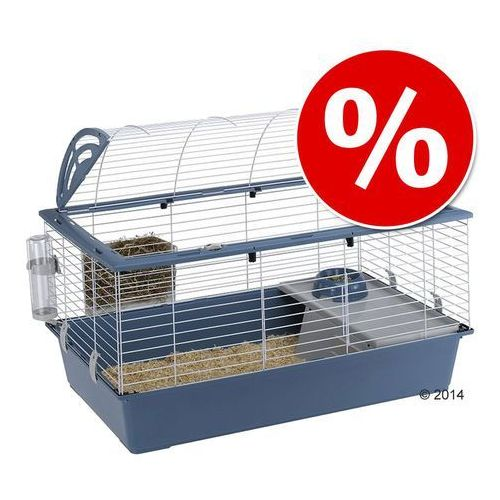 Ferplast casita 100 klatka dla małych zwierząt - niebieska, dł. x szer. x wys.: 96 x 57 x 56 cm| -5% rabat dla nowych klientów| dostawa gratis + promocje