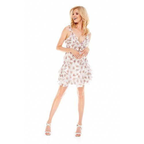 ea0e5a19ca16fa Sukienka monaco biała w kwiaty (Sugarfree) opinie + recenzje - ceny ...