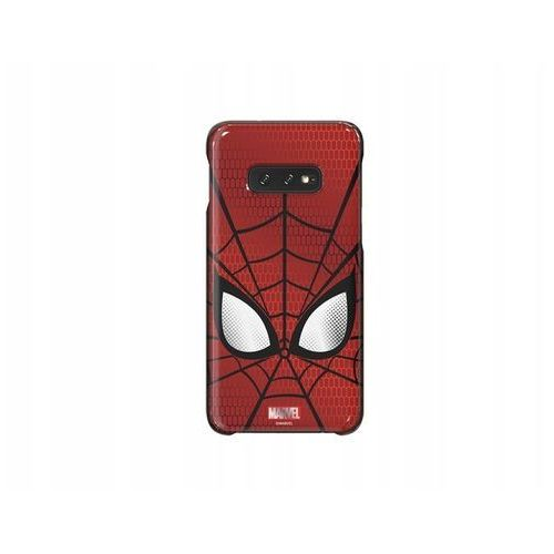 Etui SAMSUNG Spider Man do Galaxy S10e Ciemnoczerwony GP-G970HIFGHWD, kolor czerwony