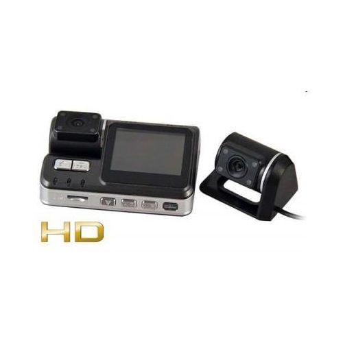 """Carcam 2w1!! kamera samochodowa hd + druga kamera zewnętrzna/cofania + ekran lcd 2""""..."""