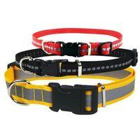 CHABA Obroża odblaskowa regulowana dla psa 20mm/46cm SZEROKI ODBLASK