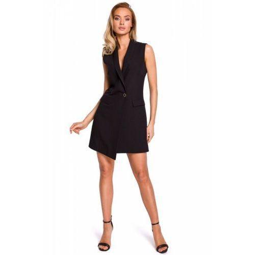22c9617d Rozkloszowana sukienka midi z wiązaniem przy dekolcie szara m298 ...