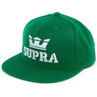 czapka z daszkiem SUPRA - Above Snap Green/White-White (366)