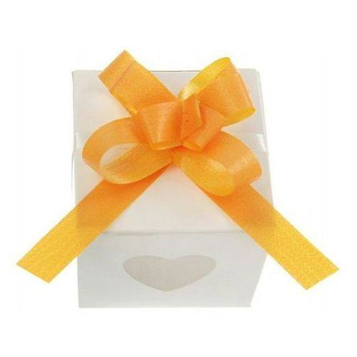 Party deco Wstążki ściągane na ślub - mango 1 cm 50 szt.