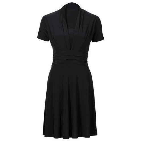 Sukienka z drapowaniem bonprix czarny