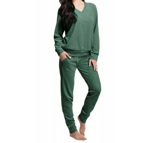 Luna Welurowy dres damski komplet 306 3xl zielony
