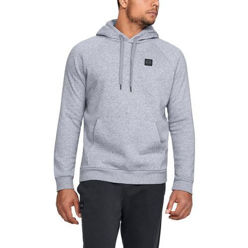 Under armour bluza z kapturem rival fleece po hoodie szara - szary