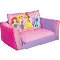 Disney  rozkładana sofa, wzór w księżniczki 105x68x26 cm, różowa worl660010 (5013138642092)