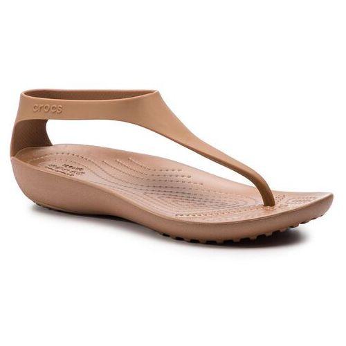 Sandały serena flip w 205468 bronzebronze (Crocs)