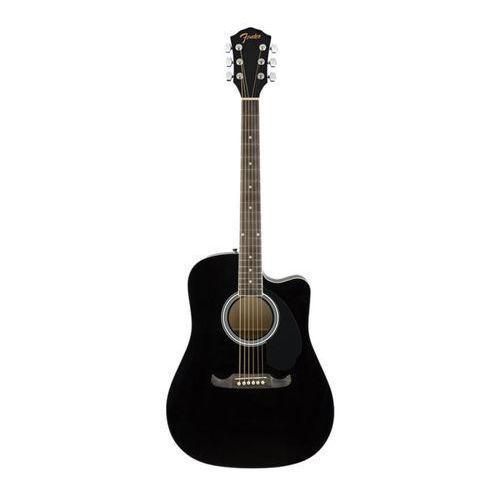 Fender fa-125ce dreadnought black wn gitara elektroakustyczna
