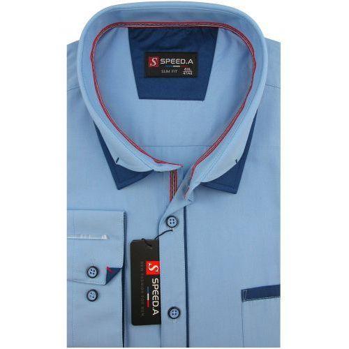 a0a733cd Koszula Męska sztruksowa brązowa w kratkę na długi rękaw duże rozmiary  D947, D947 (Speed.A)