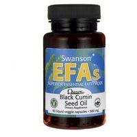 Kapsułki Black Cumin Swanson, Seed Oil 500mg, Olej z nasion czarnego kminu, 60 kapsułek - Długi termin ważności! DARMOWA DOSTAWA od 39,99zł do 2kg!