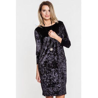 704304f7d9 suknie sukienki sukienka z grubej dzianiny d061 mini czarna STUDIO ...