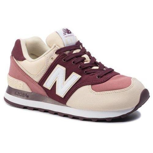 Sneakersy - wl574inb beżowy bordowy marki New balance
