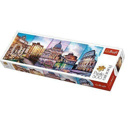 Trefl Puzzle koláž památky itálie panorama 500 dílků 66x23,7cm v krabici 40x13x4cm