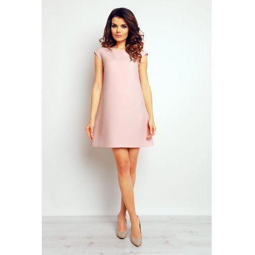 c2b6954586 Różowa Trapezowa Elegancka Sukienka