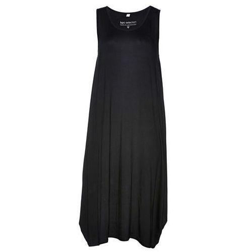 Sukienka shirtowa czarny, Bonprix, 36-46