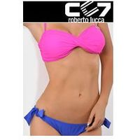 SET Kąpielowki CC7 BANDUAGE HOT PINK + BRIEFS ELECTRIC BLUE no. 34