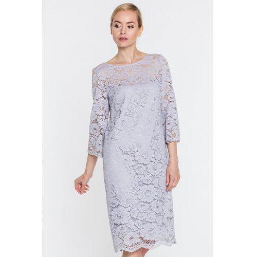 73d851f055fa85 Szara sukienka koronkowa (GaPa Fashion) - sklep SkladBlawatny.pl