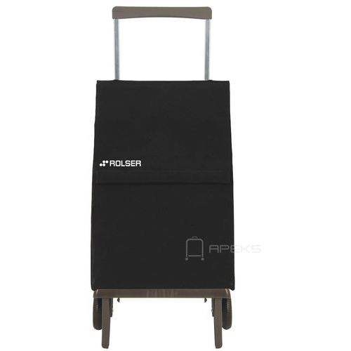 plegamatic wózek na zakupy / składany / ple047 negro / czarny - czarny marki Rolser