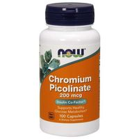 Minerały NOW Foods Chromium Picolinate 100 kaps Najlepszy produkt
