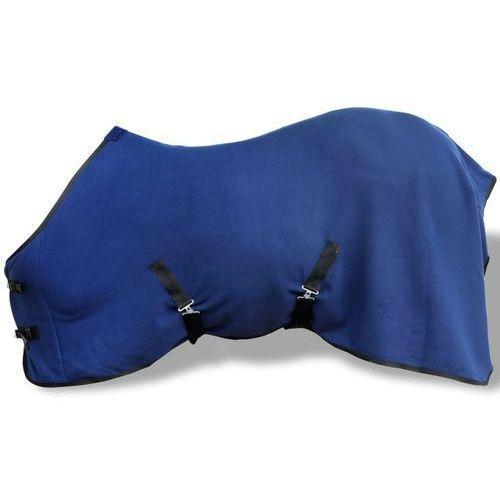 vidaXL Polarowa derka z zapięciami, 105 cm, niebieska (8718475945062)