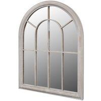 Vidaxl  lustro ogrodowe w stylu rustykalnym 89 x 69 cm do domu i ogrodu