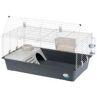 Ferplast rabbit 100 klatka dla królików i świnek - szara kuweta, dł. x szer. x wys.: ok. 97 x 60 x 45,5 cm | dostawa gratis!| tylko teraz rabat nawet 5%