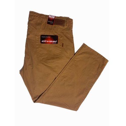 spodnie długie materiałowe musztardowe model 531 130/34 musztardowy bawełna / lycra marki Divest