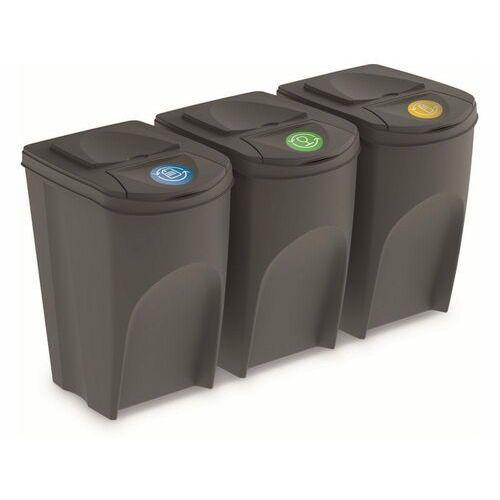 Kosz Do Segregacji Smieci Sortibox 3 X 35 L Szary Prosperplast Recenzje Opinie Ceny Lepsze Od Ikea Iktrans Pl