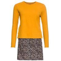 Sukienka ze sznurowaniem z boku bonprix żółty - leo