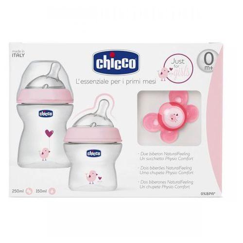 Zestaw do karmienia dla niemowląt 0m+ zestaw do karmienia 0m+ różowy Chicco