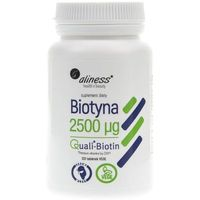 Tabletki Aliness Biotyna 2500 mcg QualiBiotin 120 tabletek