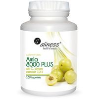 Kapsułki Amla 8000 PLUS, 100 kapsułek z witaminą C i Chromem – Aliness