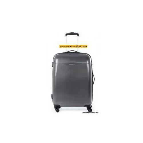 Puccini walizka średnia z kolekcji pc005 voyager twarda 4 koła materiał policarbon zamek szyfrowy z systemem tsa