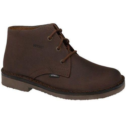 Steel Kultowe trzewiki buty 280-brcr - brązowy