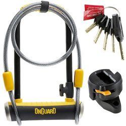 Zapięcie U-lock ONGUARD Pitbull Mini LS 8007DT z linką czarny-żółty / Rozmiar: 120 cm 9 x 24 cm