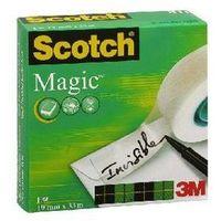 Taśma klejąca w pudełku matowa SCOTCH MAGIC, 19 mm X 33 m - X04282