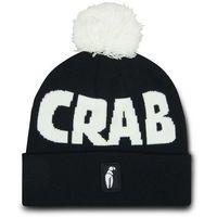czapka zimowa CRAB GRAB - Pom Beanie Black White (BLK)