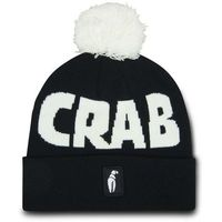 czapka zimowa CRAB GRAB - Pom Beanie Black White (BLK) rozmiar: OS