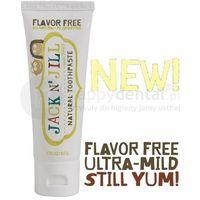Jack n'jill Jack-n-jill organiczna bezsmakowa + xylitol 50g - naturalna pasta do zębów dla dzieci z dużą zawartością xylitolu