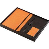 Notes, długopis, wizytownik - zestaw biznesowy philippi pomarańczowy (p246007)